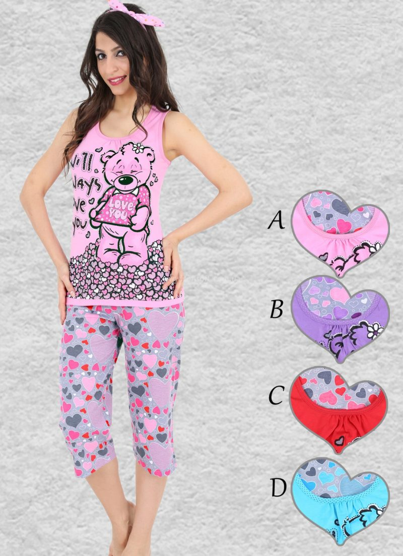 Пижама женская Капри 2716