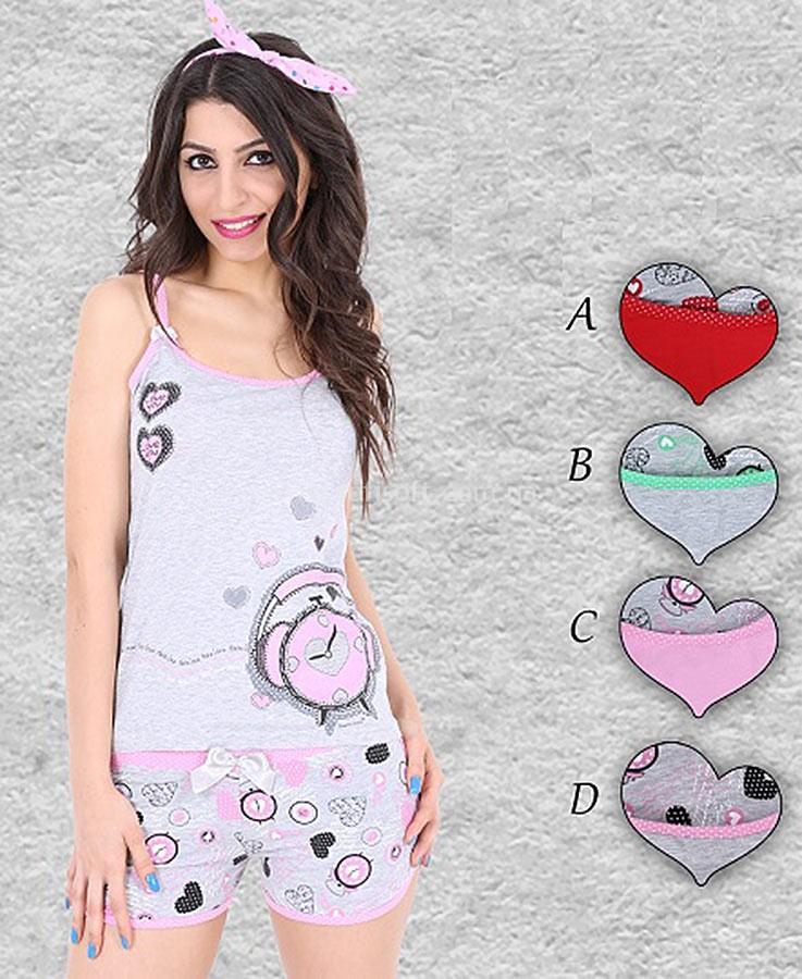 Пижама женская Шорты 8680646005403