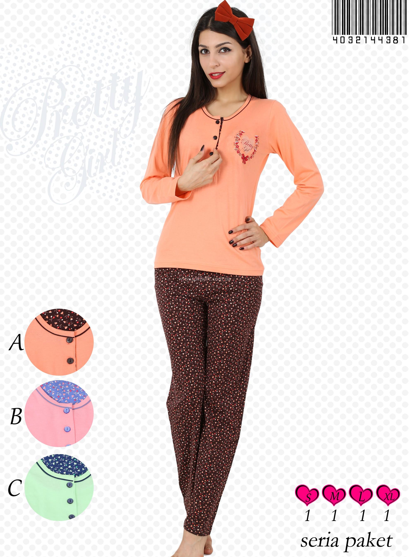 Пижама женская брюки 4032144381