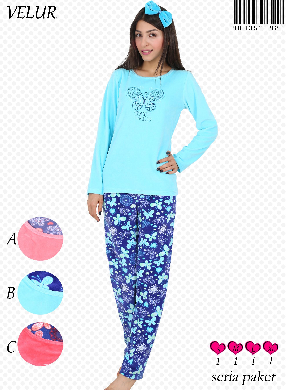 Пижама женская Велюр 4033574424