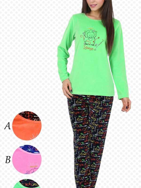 Пижама женская Велюр 4033594424