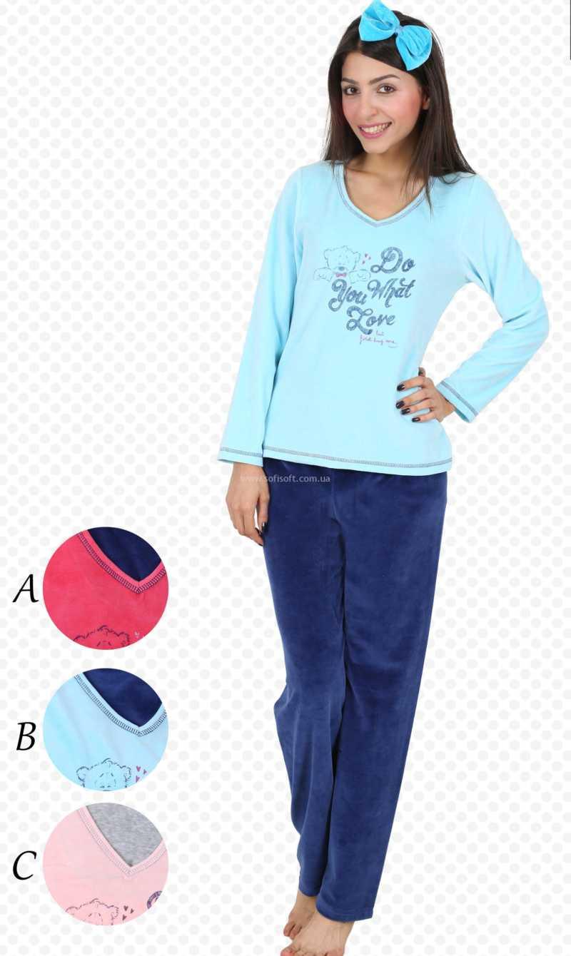 Пижама женская Велюр 4040524420