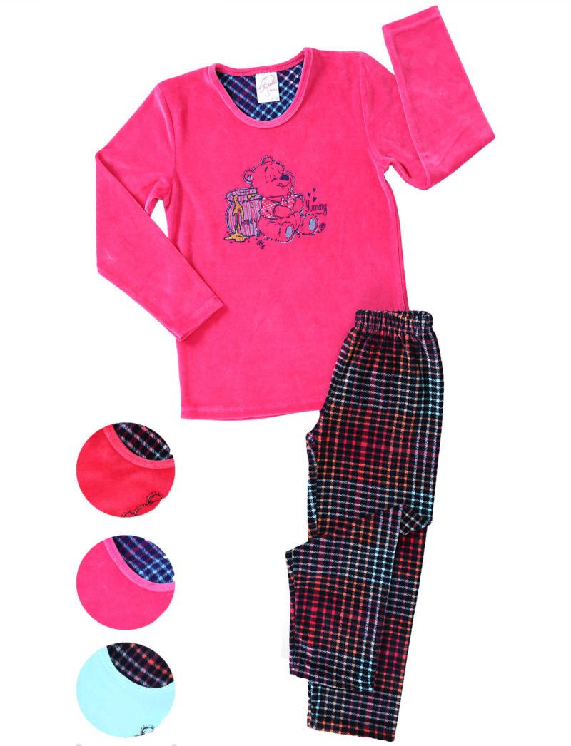 Пижама детская велюр 4041434449
