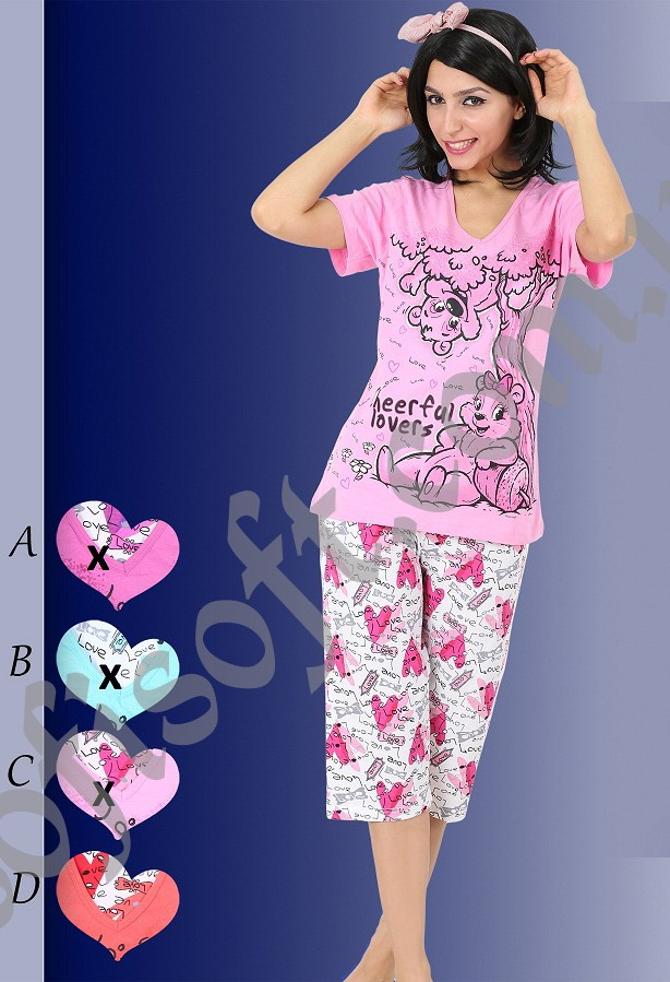 Пижама женская Капри 8680646003928