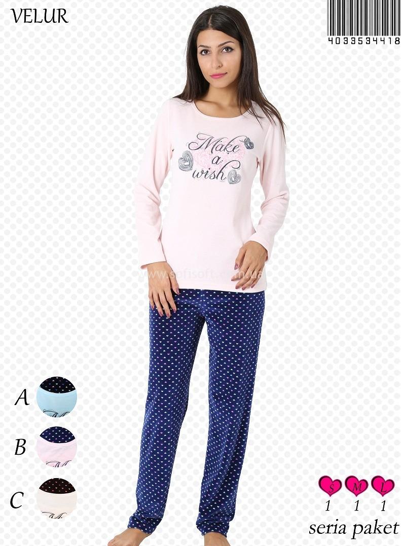 Пижама женская Велюр 4033534418