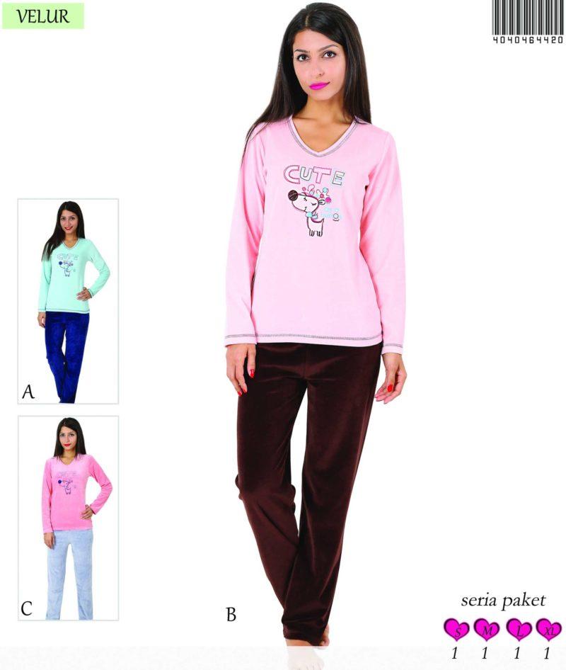 Пижама женская Велюр 4040464420