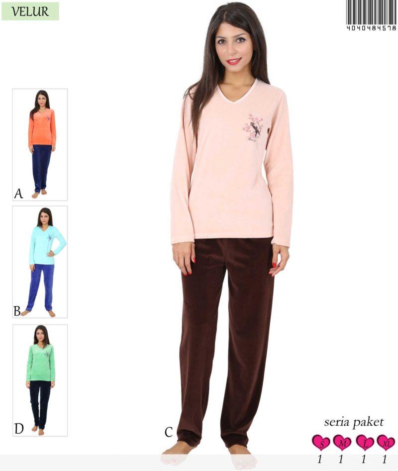 Пижама женская Велюр 4040484578