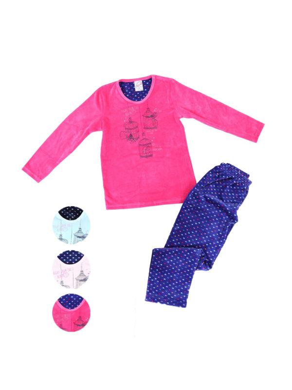 Пижама детская велюр 4041184429