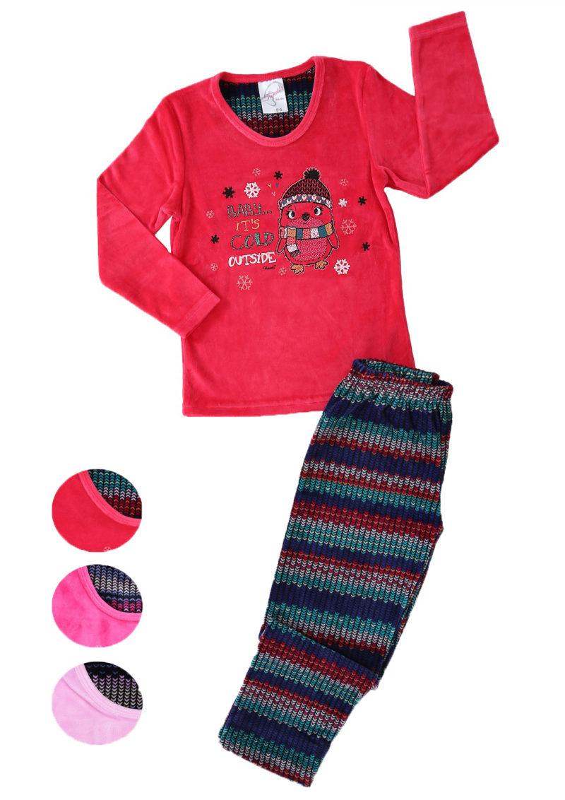 Пижама детская велюр 4041454449