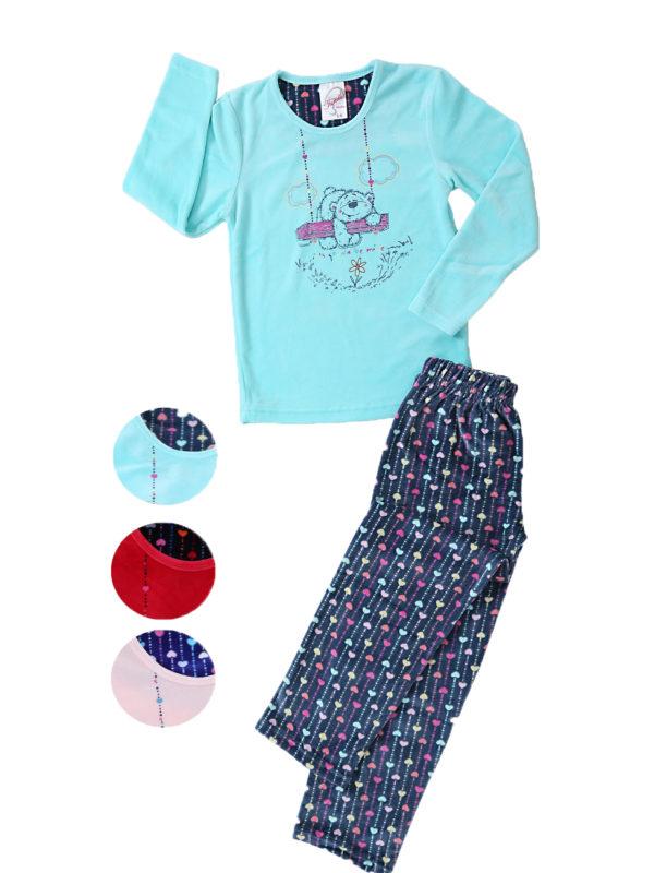 Пижама детская велюр 4041464449