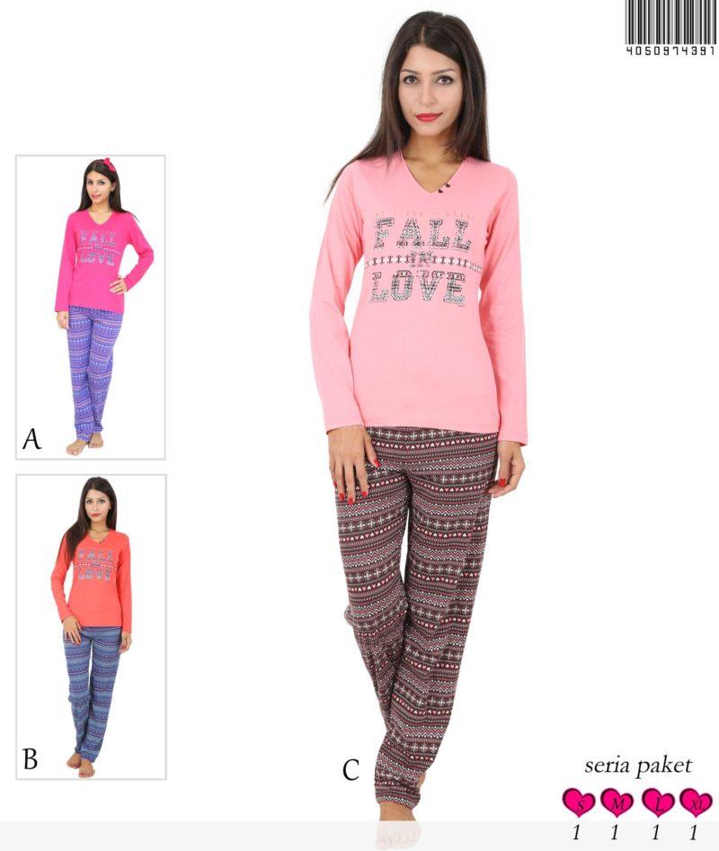 Пижама женская брюки 4050974391