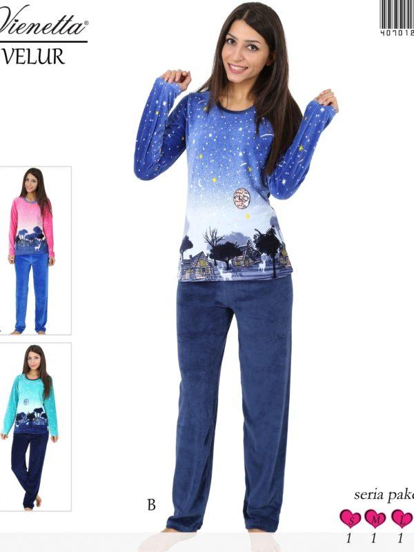 Пижама женская Велюр 4070122893