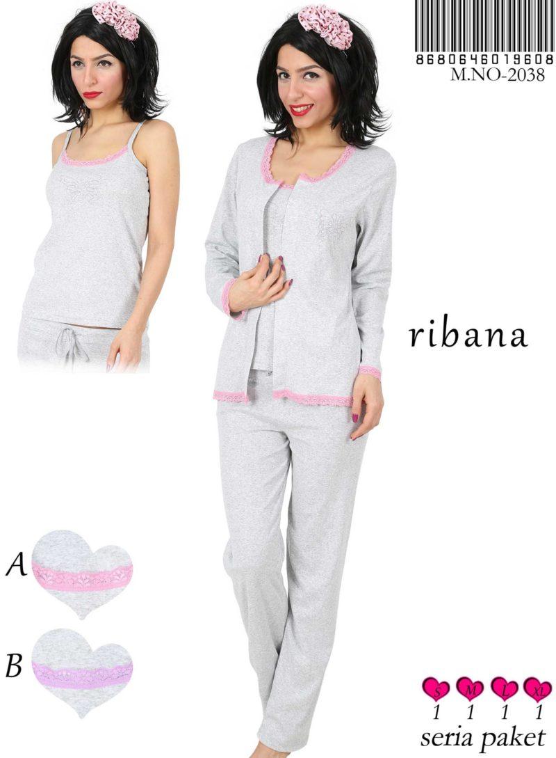 Пижама женская брюки 3-ка 8680646019608