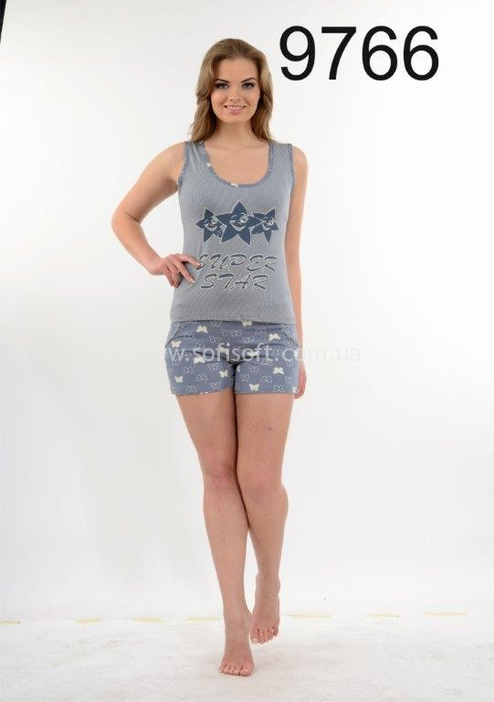 Пижама женская шорты Metin 9766