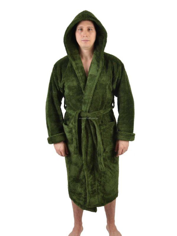 Халат махровый мужской M.M. SOFT зелёный