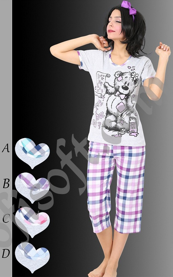 Пижама женская Капри 8680646003560