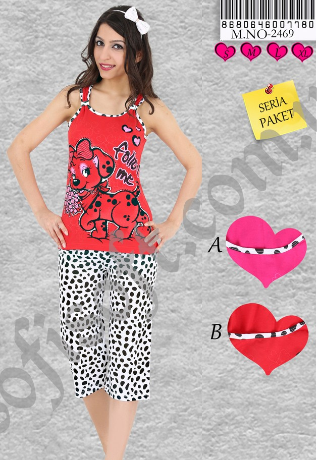Пижама женская Капри 8680646007780