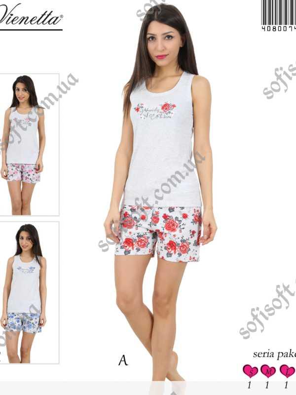 Пижама женская шорты 4080074177