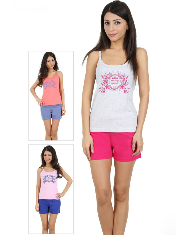 Пижама женская шорты 4091804640