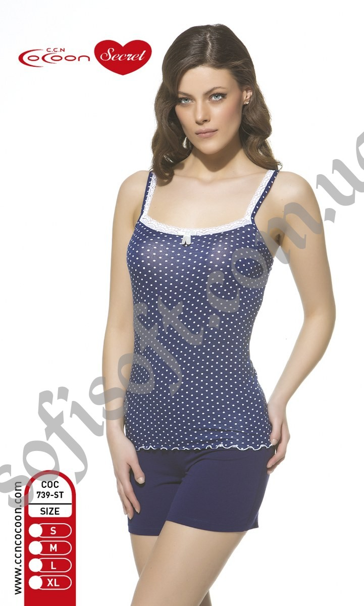 Пижама женская шорты Cocoon 739 ST