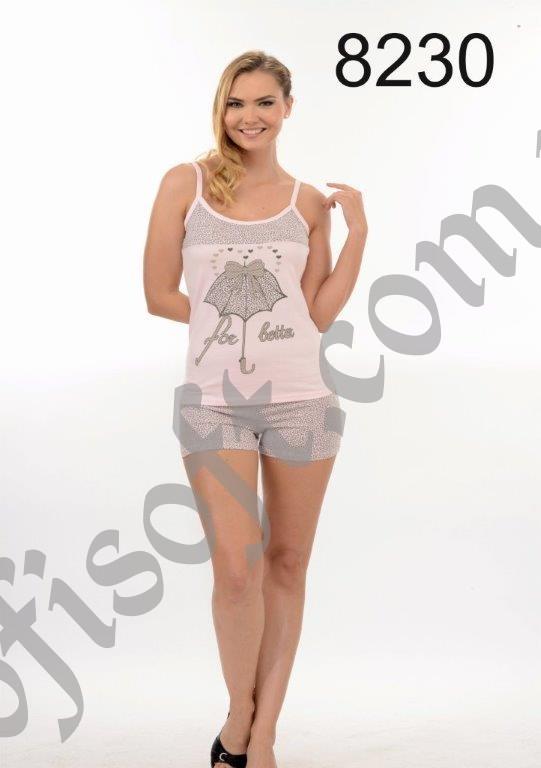 Пижама женская шорты Metin 8230
