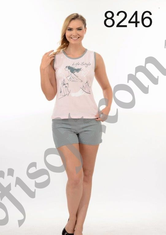 Пижама женская шорты Metin 8246