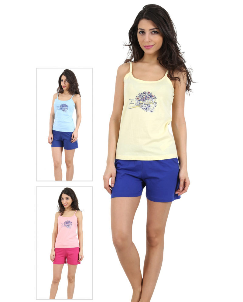 Пижама женская шорты 4091794640