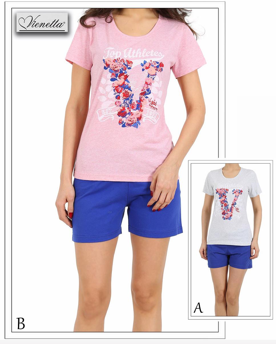 Пижама женская шорты 4110554067