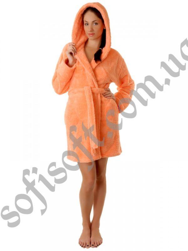 Махровый халат Sofi Soft 00814-1 персик