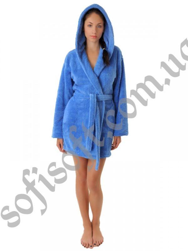 Махровый халат Sofi Soft 00814-8 голубой