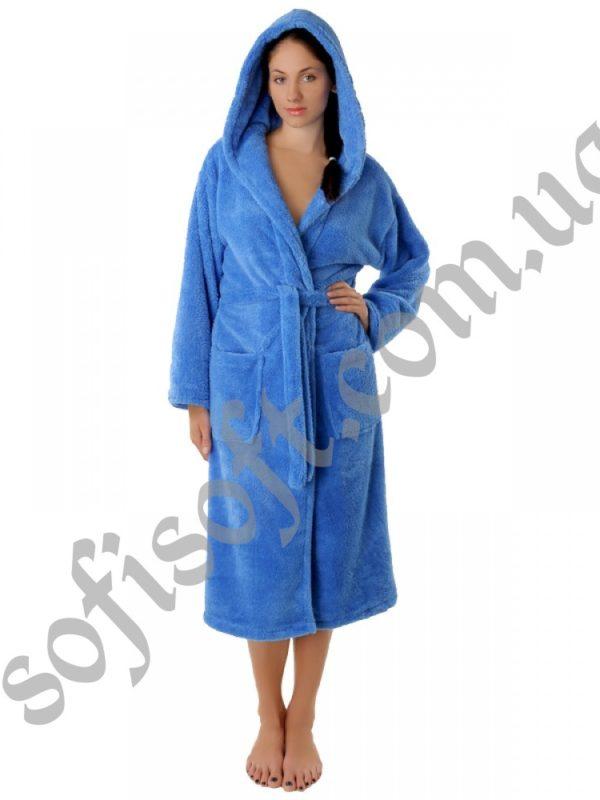 Махровый халат Sofi Soft 00815-8 голубой