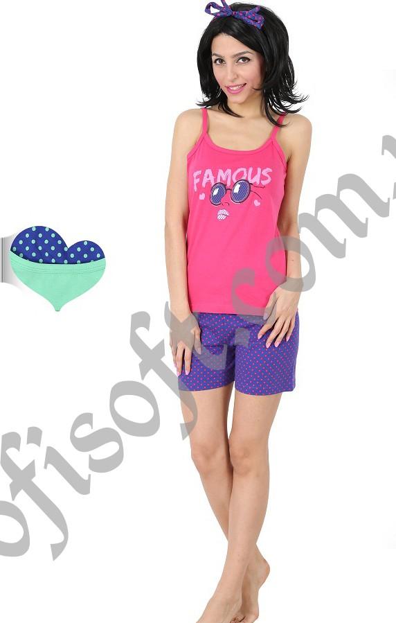 Пижама женская шорты 3111244001