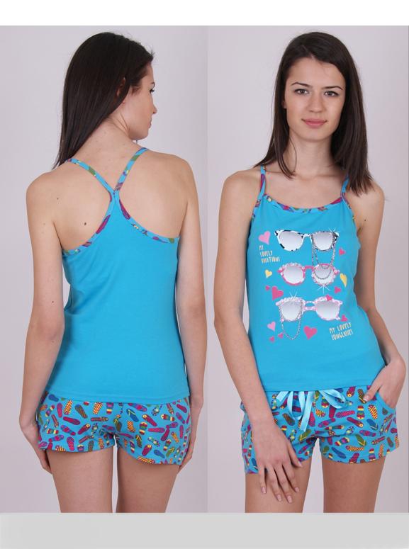 Пижама женская шорты Nicoletta 80396