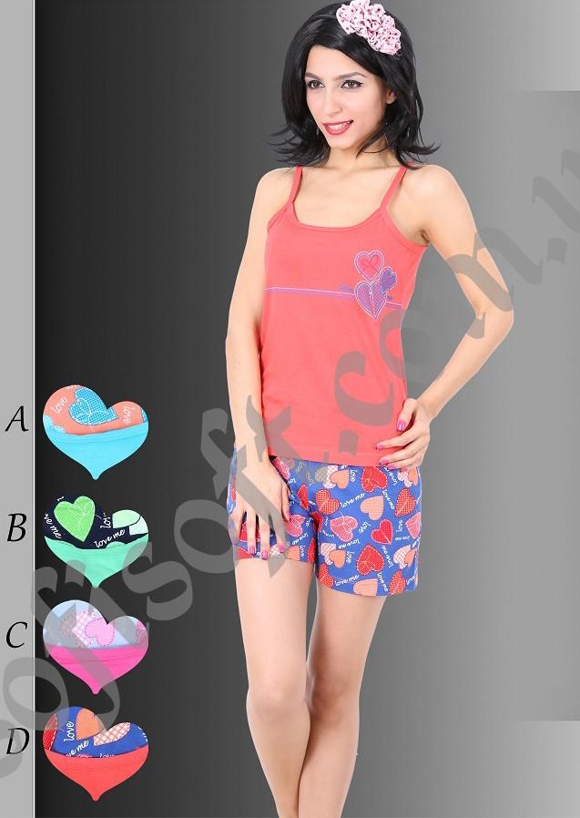 Пижама женская шорты 8680646015822