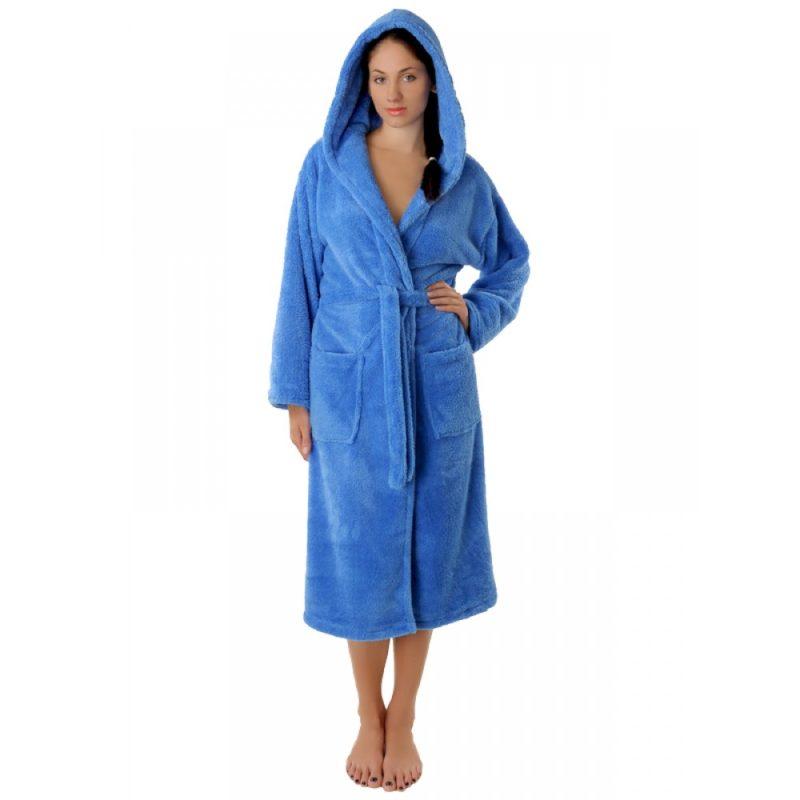 Махровый халат Sofi Soft 10815-8 голубой