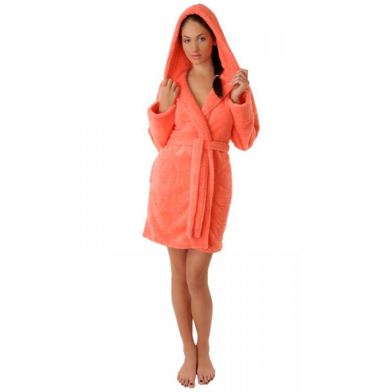 Махровый халат Sofi Soft 10814-2 коралл