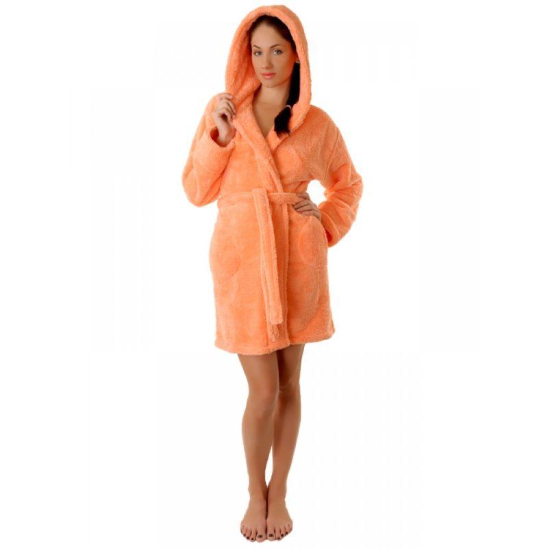 Махровый халат Sofi Soft 10814-1 персик