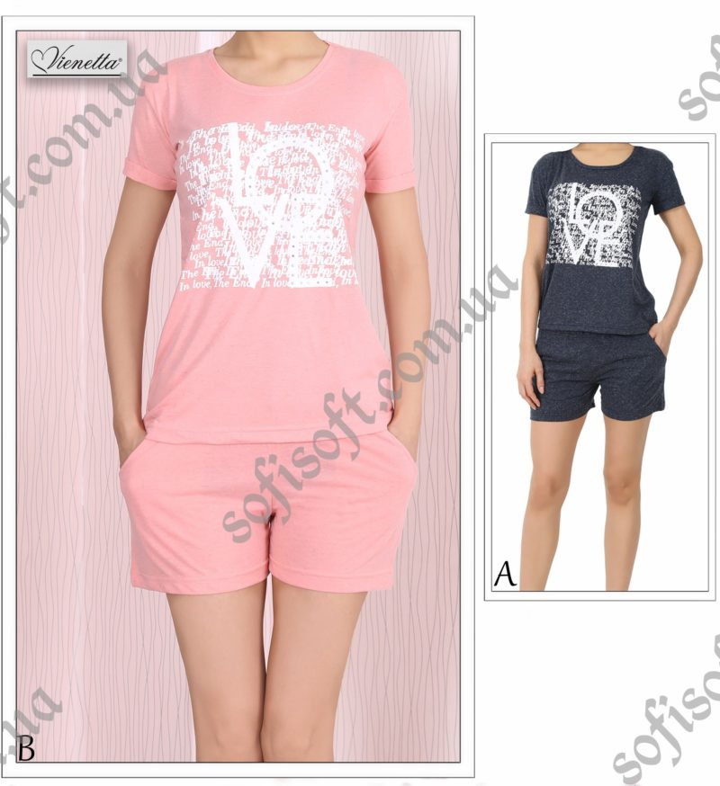 Пижама женская шорты 4081464856