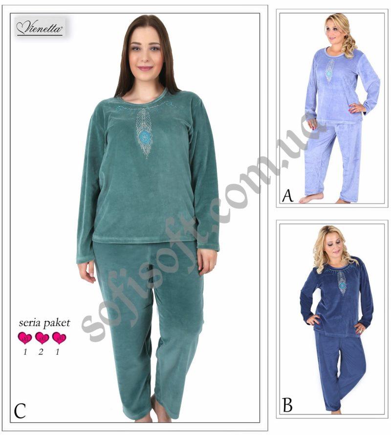 Пижама женская Велюр 5041954411