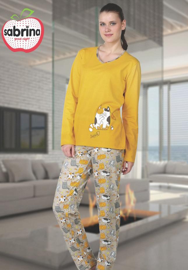 Пижама женская байка SAB.V45029 SARI
