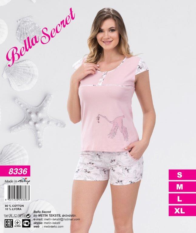 Пижама женская Шорты Metin 8336