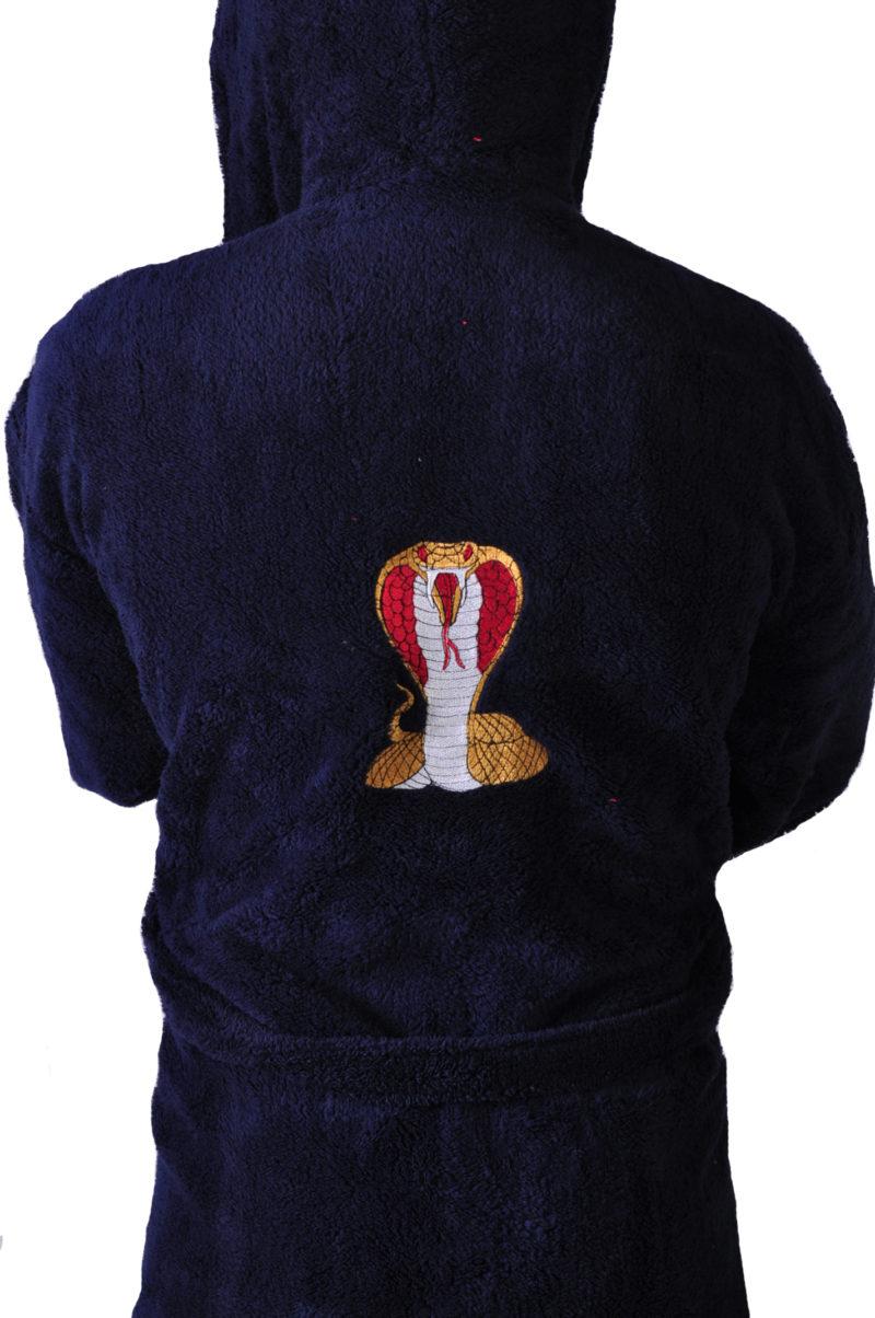Халат махровый софт Кобра красный капюшон