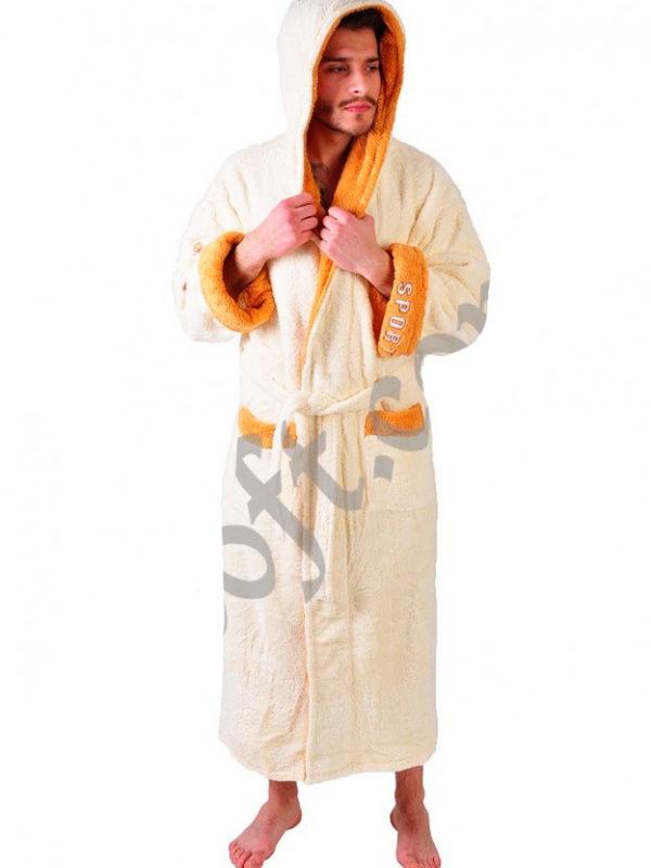Халат махровый Yener софт Спорт крем