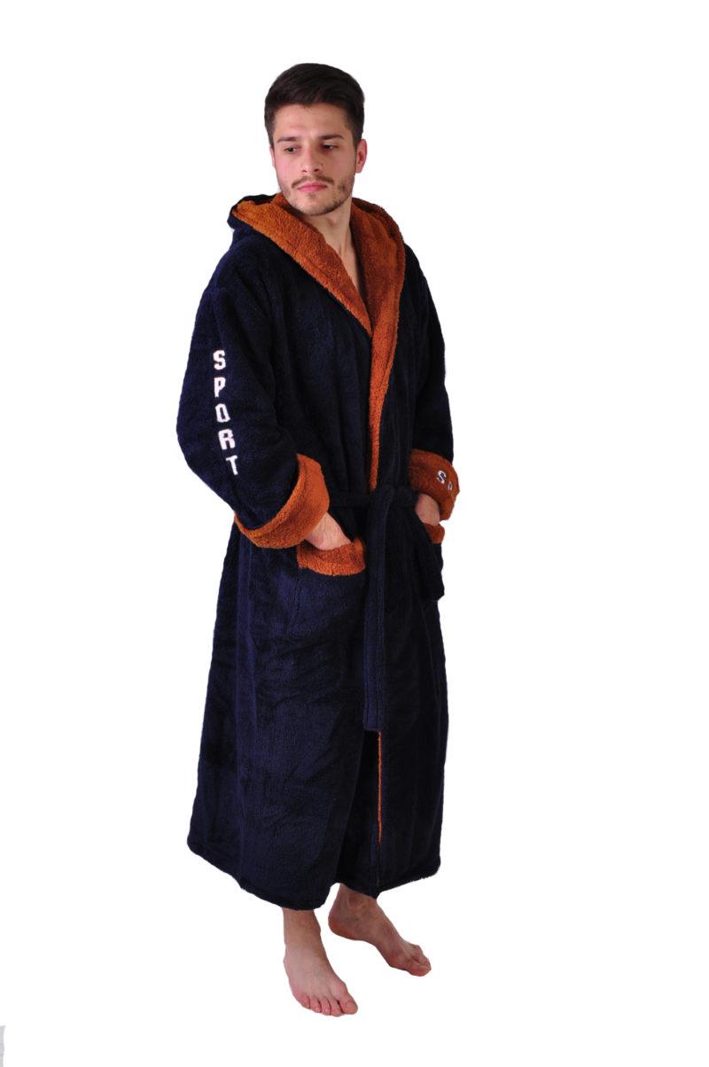 Халат махровый Yener софт Спорт светло коричневый