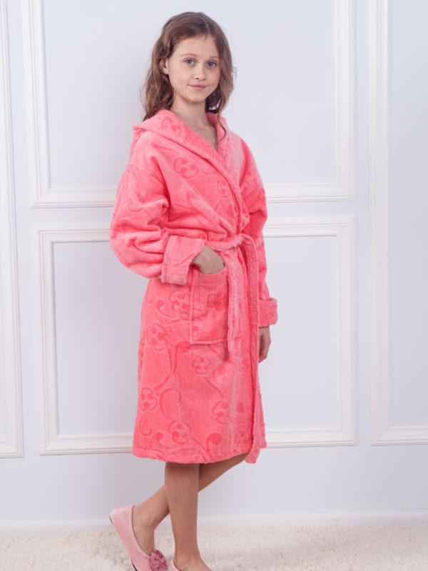 Детский махровый халат девочка хлопок 00880