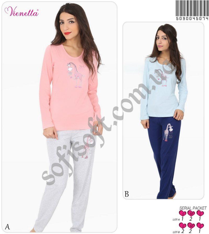 Пижама женская брюки 5090045074
