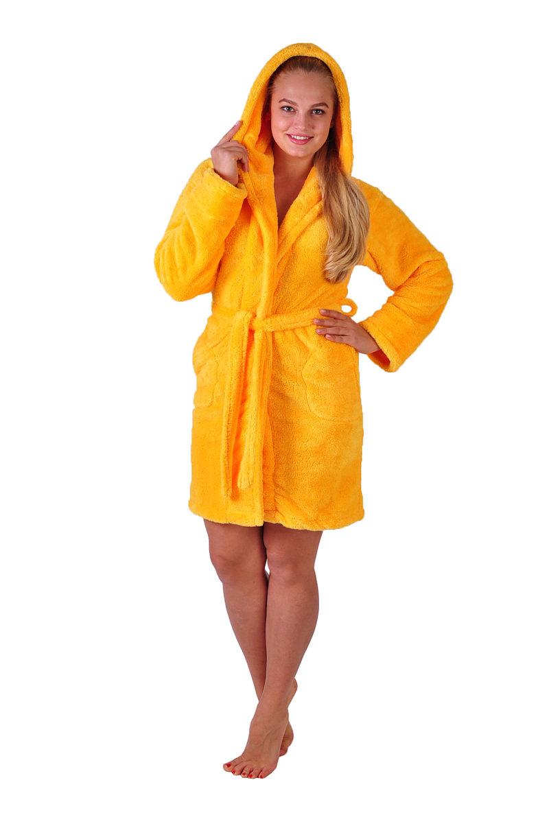Махровый халат Sofi Soft 00814-6 жёлтый