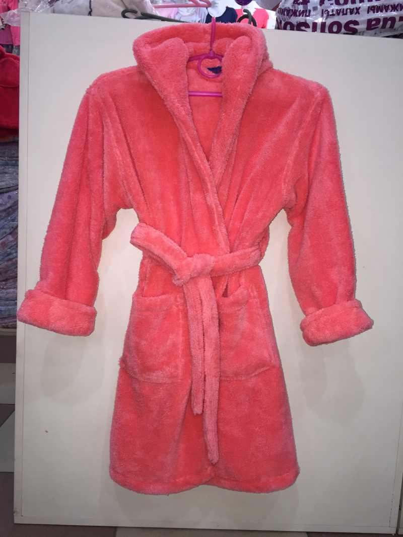 Детский махровый халат девочка 00881
