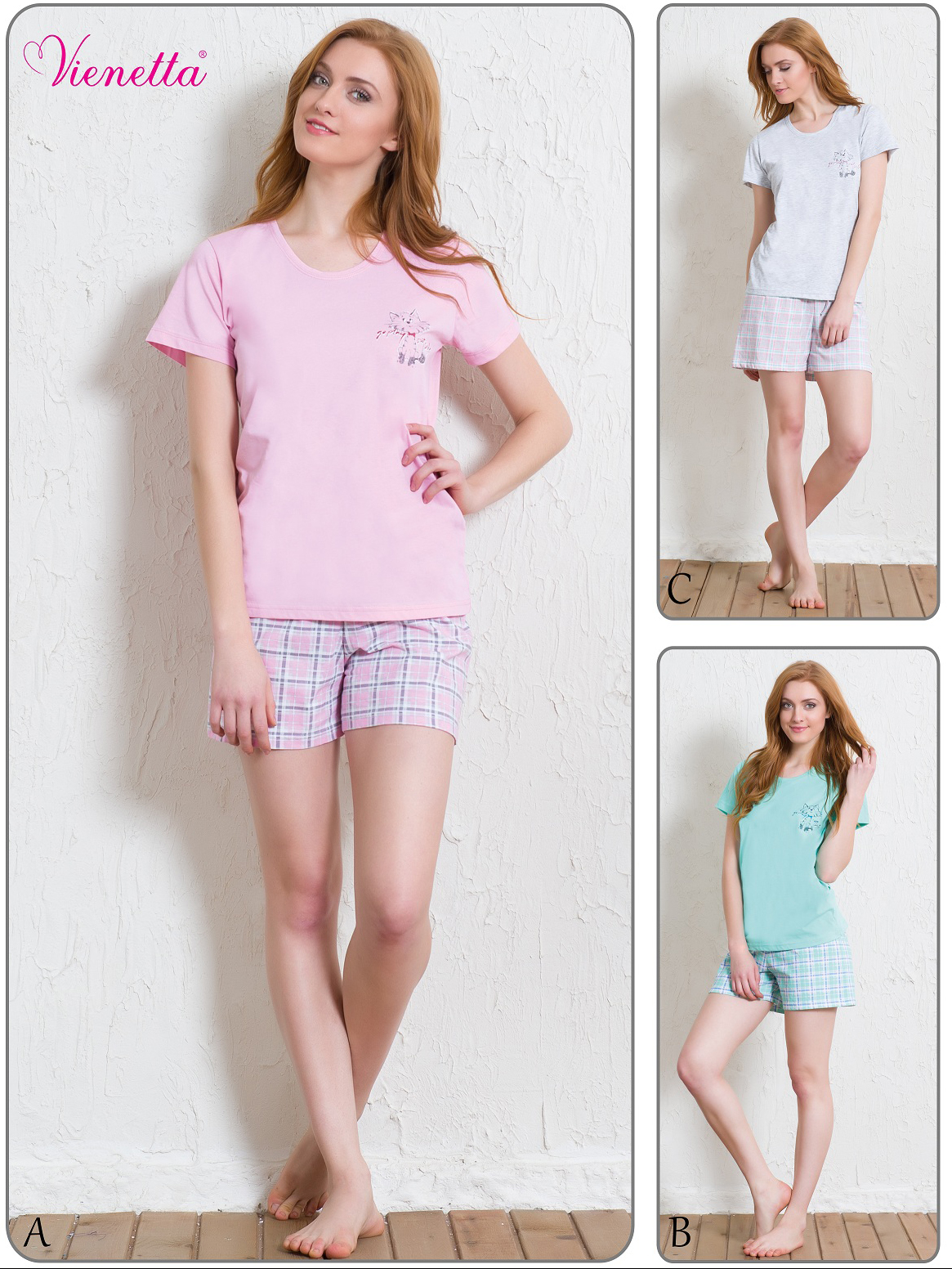 Пижама женская шорты 5110615204