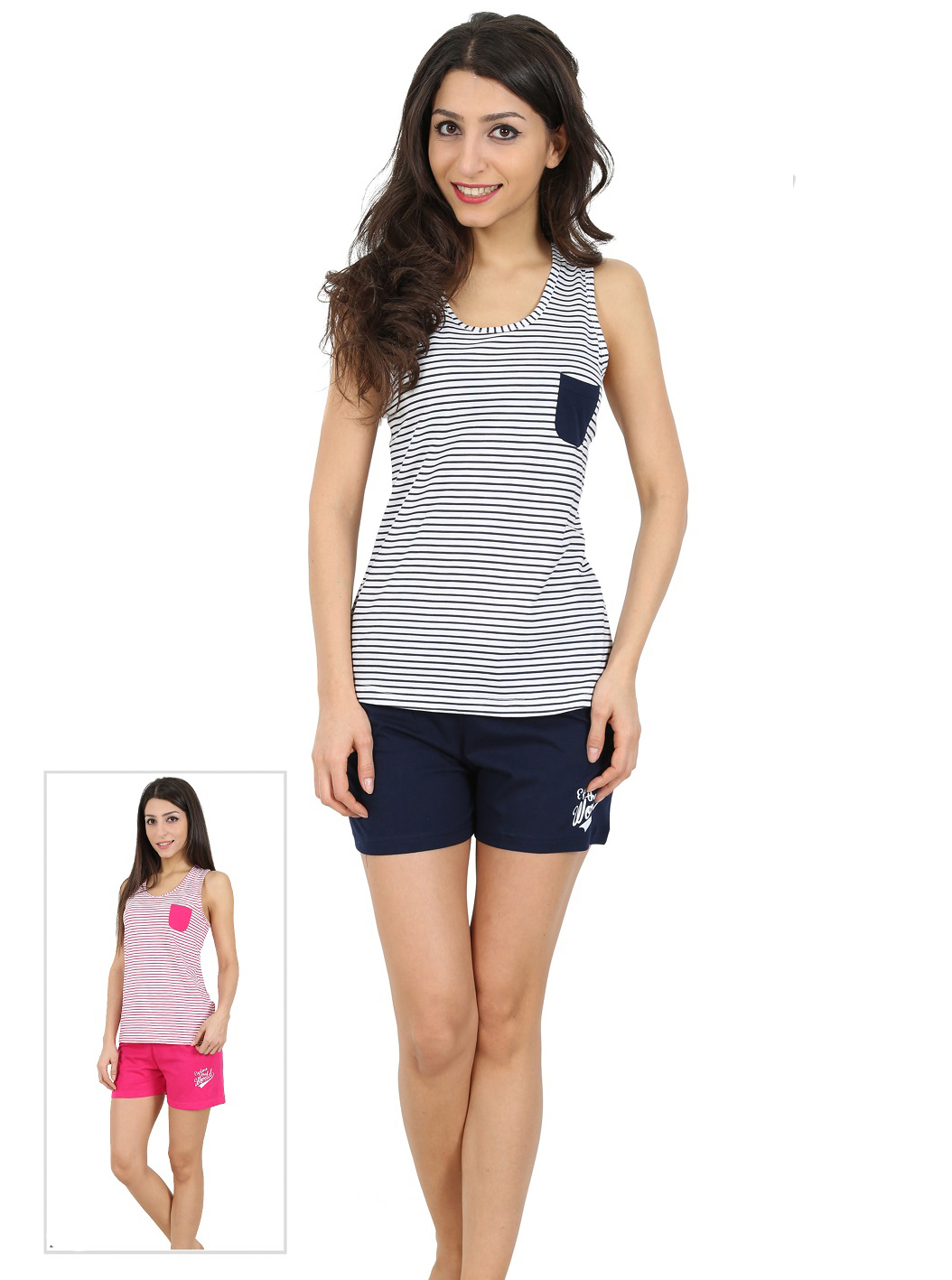 Пижама женская шорты 4080314652